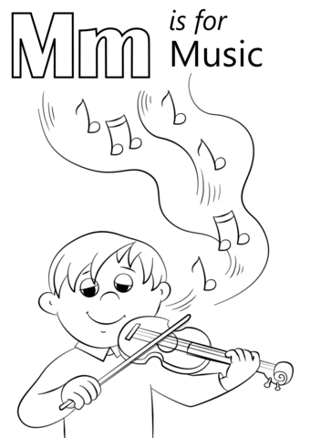letter m is for music coloring page from letter m category select from 26615 printable crafts