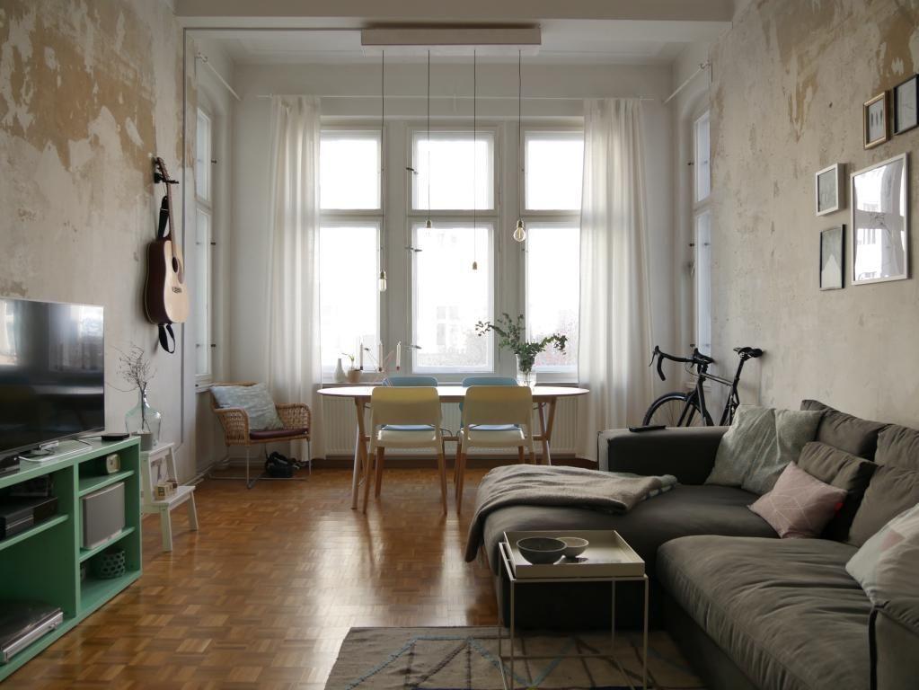 Grosses Altbauzimmer Perfekt Als Wohnzimmer Oder Wg Zimmer Einrichtung Interior Livingroom Room Interieur Zimmer Einrichten Wg Zimmer Altbau Wohnzimmer