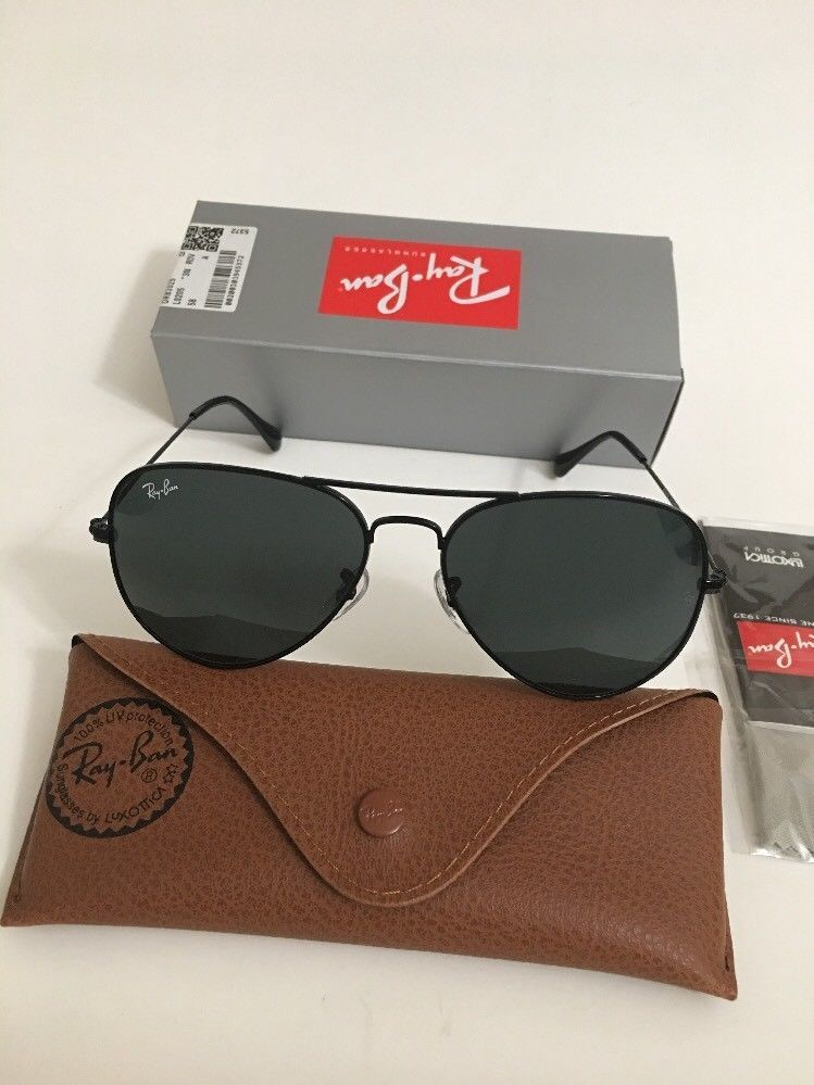 4497dd81ea Ray-Ban Aviator Large Black Lens Sunglasses RB3025 002/62 58mm 3N #RayBan # Aviator