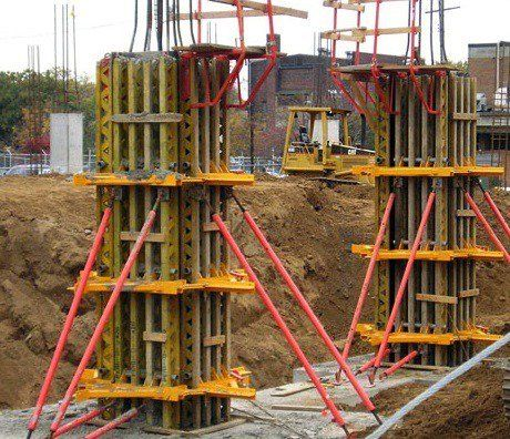 column forms formwork for reinforced concrete columns on types of walls construction id=35264