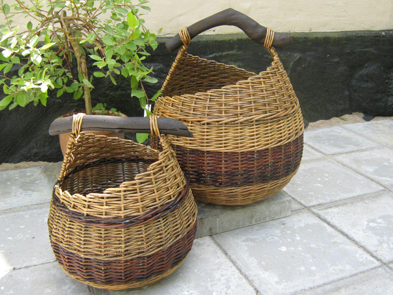 Willow Basket Weaving Somerset : Canastas de sauce idea para hacer con papel peri?dico reciclado willow baskets