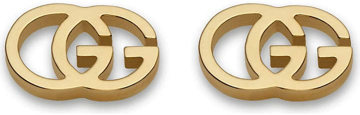 3d97a55cab6a Gucci GG 18ct yellow-gold tissue stud earrings
