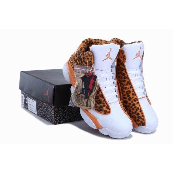 Cheetah Print Air Jordan 13 Leopard Orange White New Jordans Shoes 2013