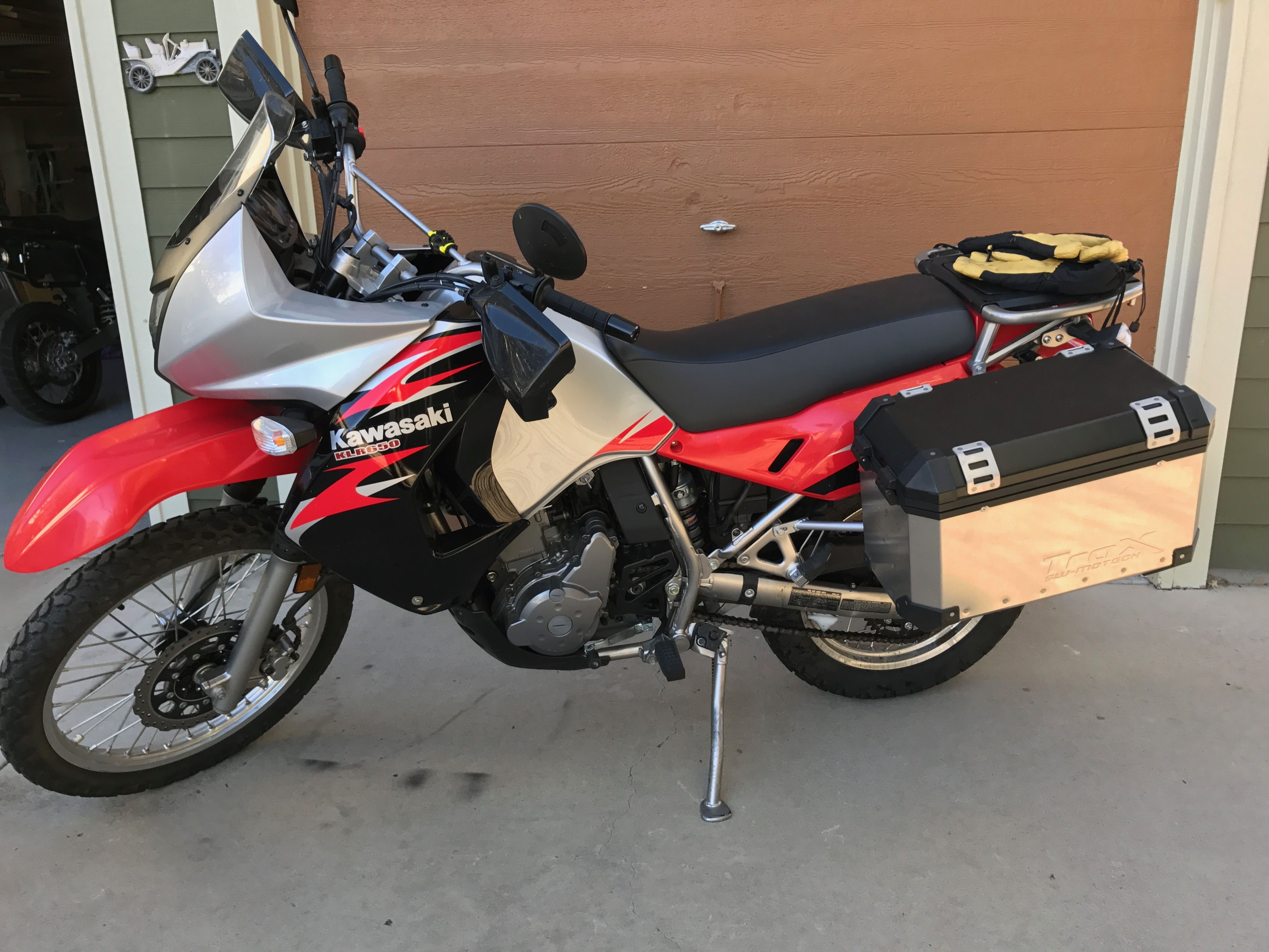small resolution of 2008 klr 650 with panniers