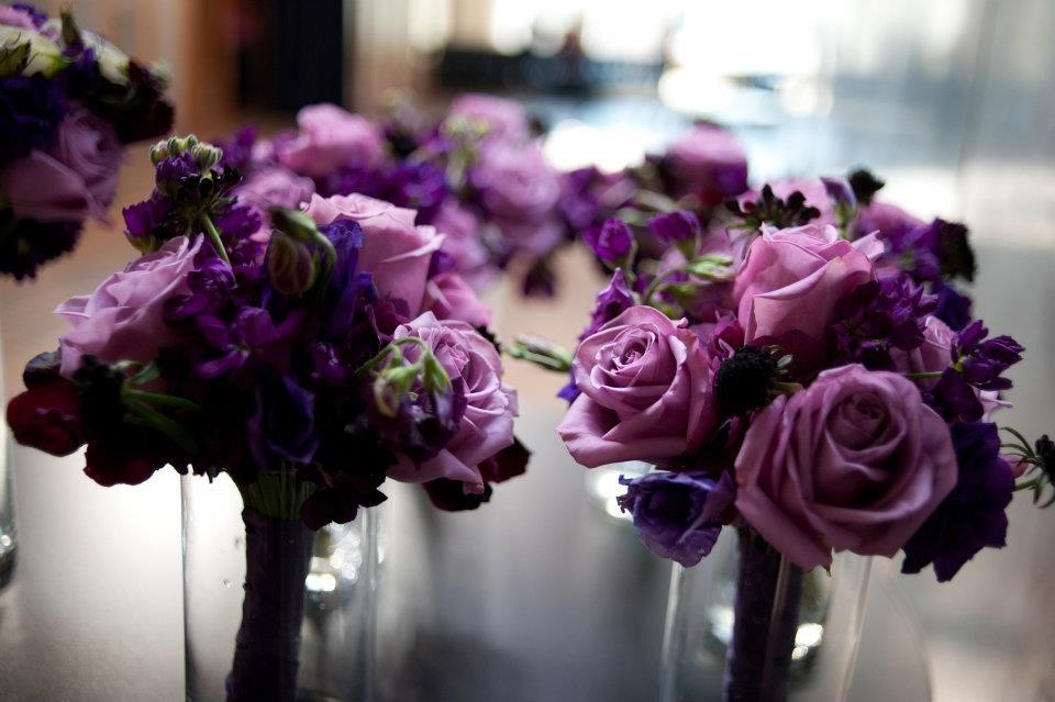 eggplant gray black weddings | gorgeous November wedding with deep ...