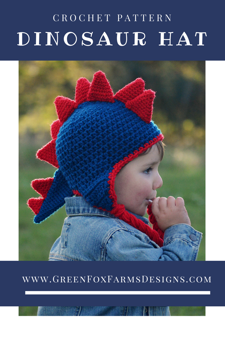Dinosaur Hat - New Pattern Release and SALE | Dinosaur hat, Hat ...