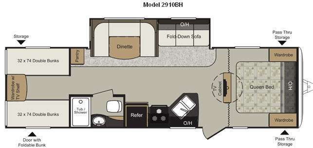 camper floor plans with bunk beds - google search | interesting