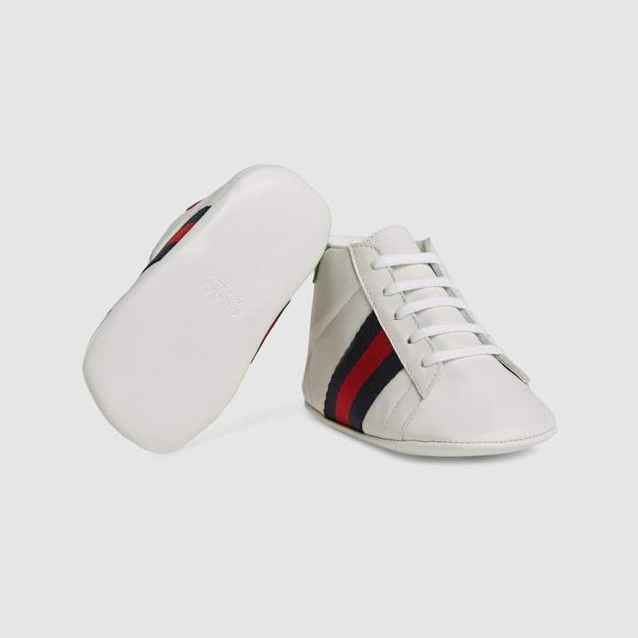 ceed7bffb70 Gucci Baby Ace leather sneaker