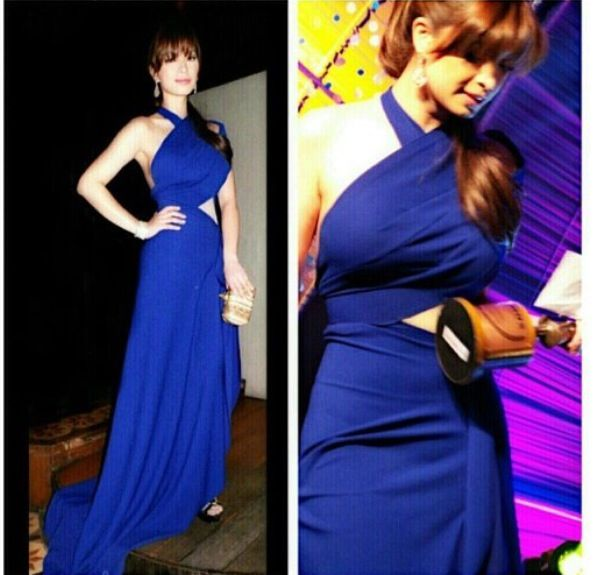Angel Locsin in a blue cut out dress by Rajo Laurel | red carpet ...