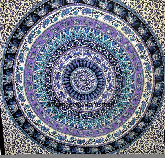 mandala indien tapisserie hippie tenture murale par marusthali chambeeer pinterest mandala. Black Bedroom Furniture Sets. Home Design Ideas