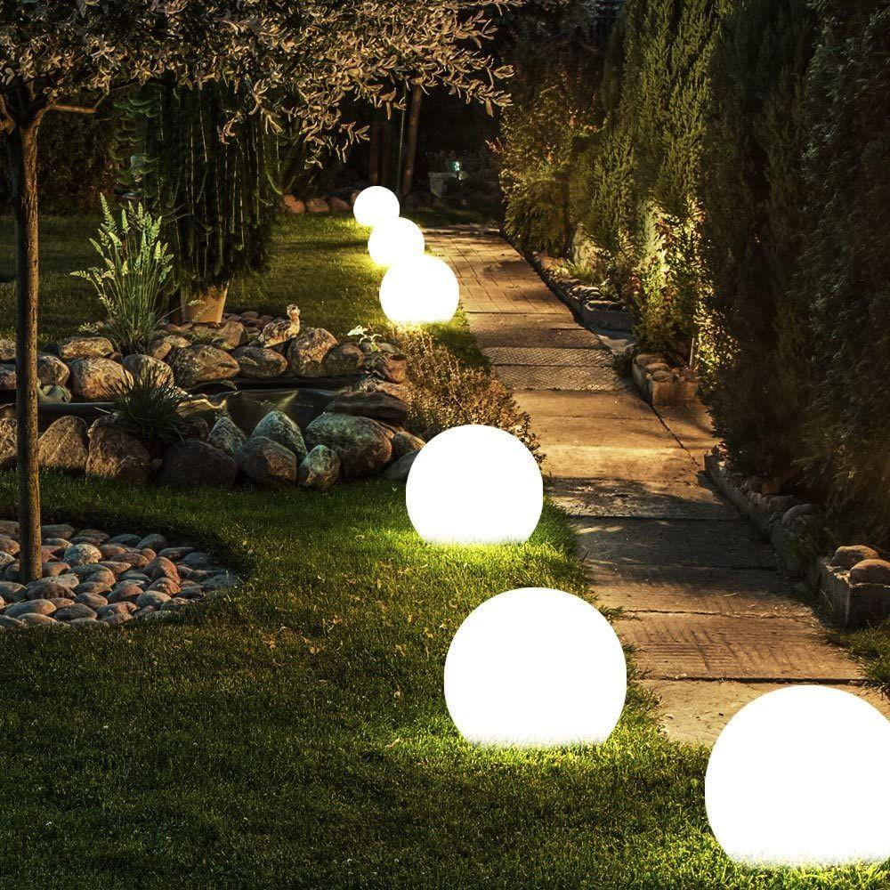 Solar Lampen Kugel Design Erd Spiess Steck Leuchten Garten Weg Beleuchtung In 2020 Gartenbeleuchtung Landschaftsbeleuchtung Gartenbeleuchtung Solar