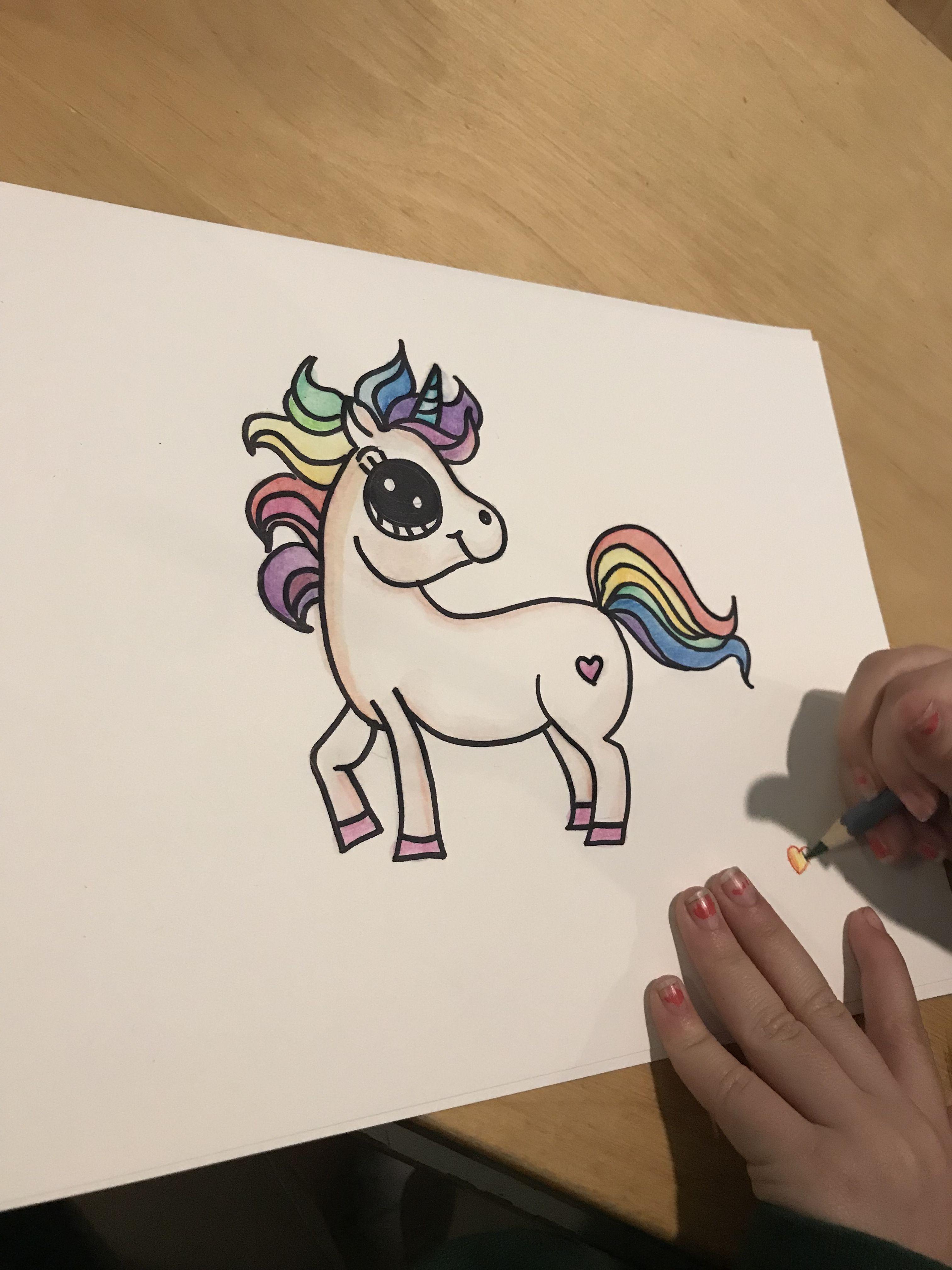 Draw So Cute Unicorn Unicorn Drawing Cute Drawings Cute Unicorn