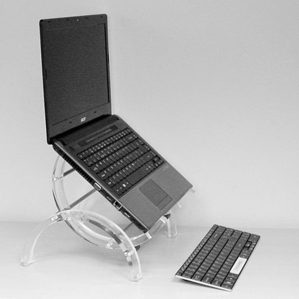 Sculpted in iCE  This great looking laptop stand is more than just an aesthetic masterpiece