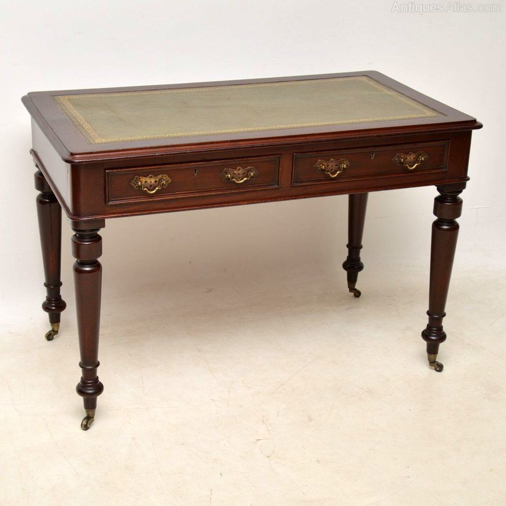 Victorian Leather Top Mahogany Writing Table Writing Table