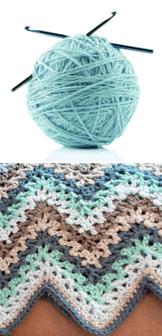 V-stitch Ripple Afghan | crochet | Pinterest | Manta, Tejido y Ganchillo