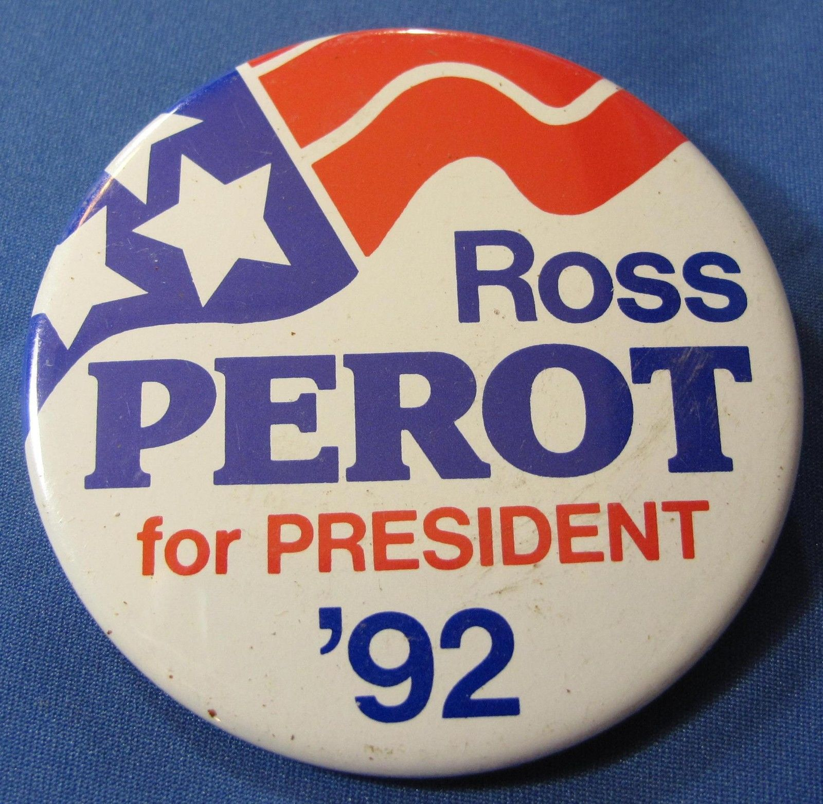 Ross Perot For President 1996 Vtg Lot Of 3 Campaign Buttons
