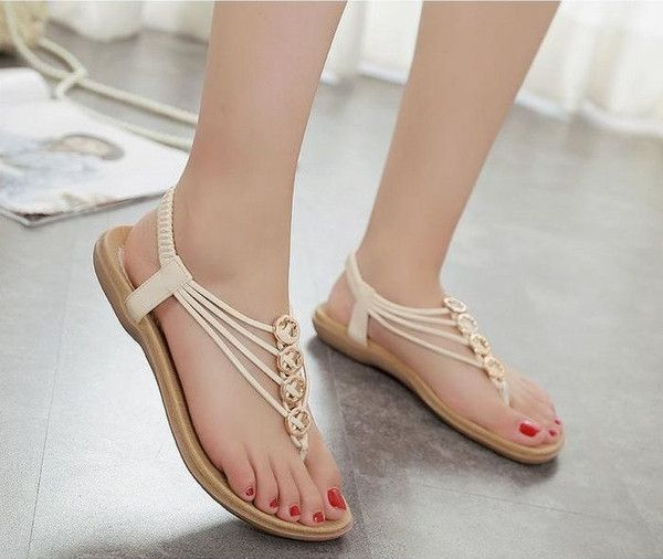 0cc5f14772e11 New Chic Style Female Flat Sandals