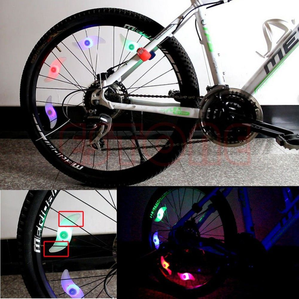 3 Mode Bike Bicycle Cycling Spoke Wire Tire Tyre Wheel LED Bright ...
