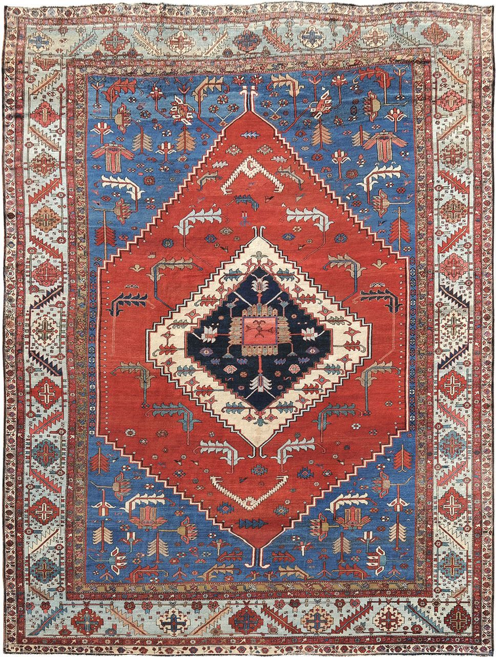 Antique Bakhshayesh Origin Persia Size 12 0 X 15 6 Rug Id 207 Rugs On Carpet Rugs Silver Carpet