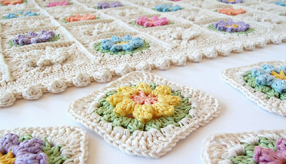 Crochet Flower Granny Square Pattern and Tutorial | | Barbs ideas I ...