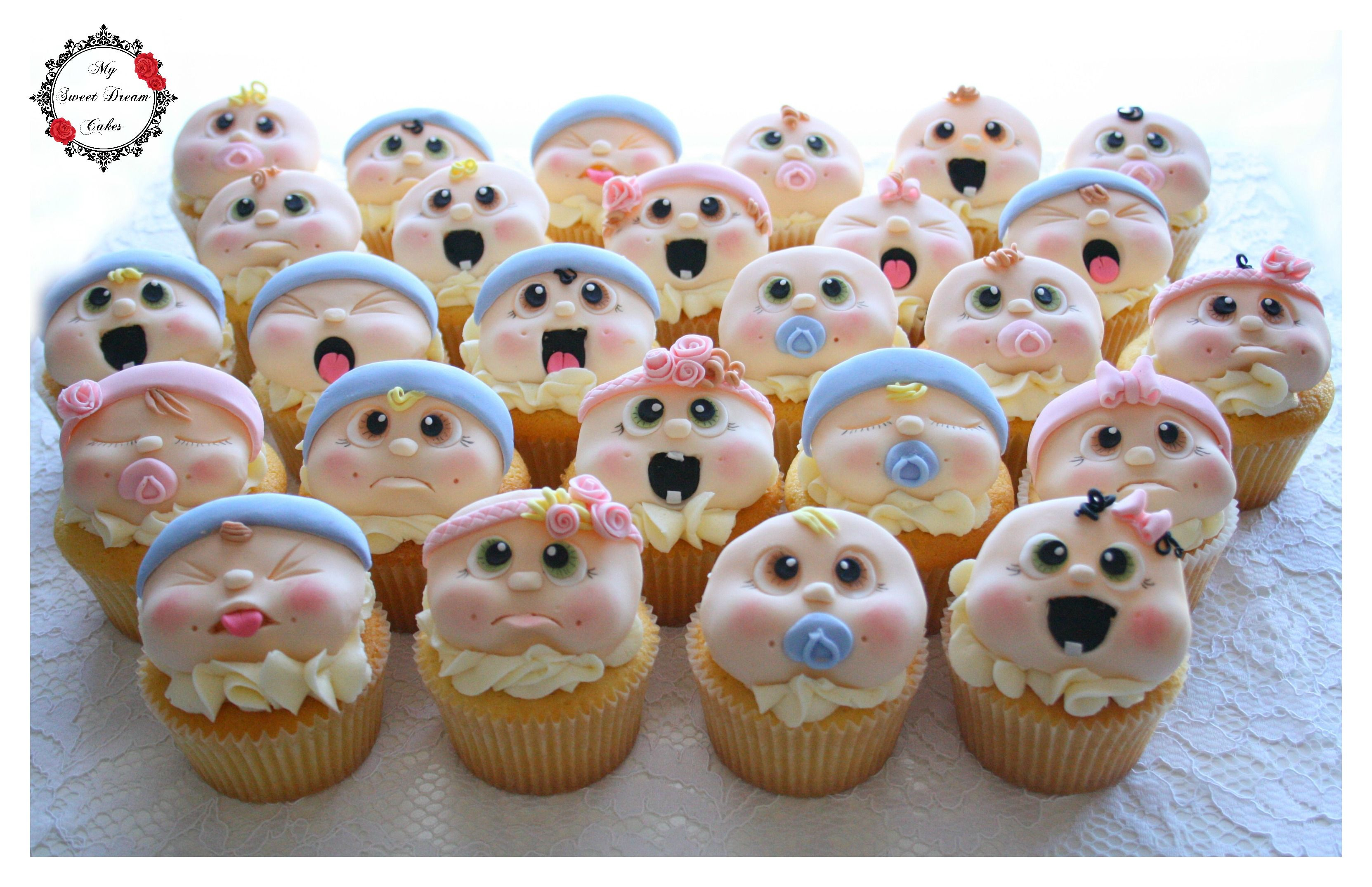 Cute Baby Face Cupcakes By My Sweet Dream Cakes Perth Wa