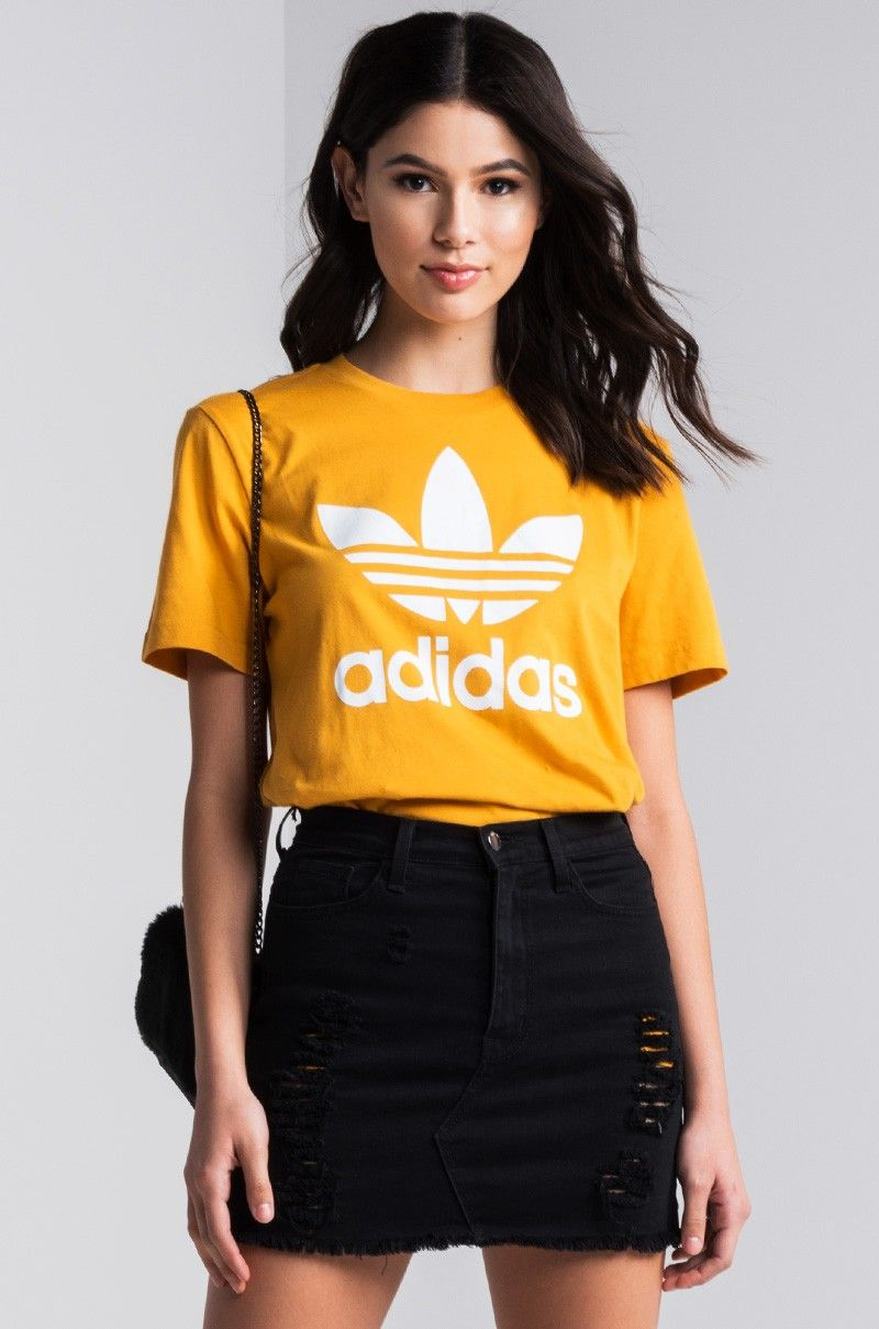 black and yellow adidas shirt