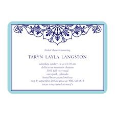 Lace Frame Shower Invitations