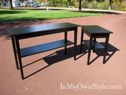Painting Furniture Black Stain Vs Black Paint Staining Furniture Black Wood Stain Stained Table