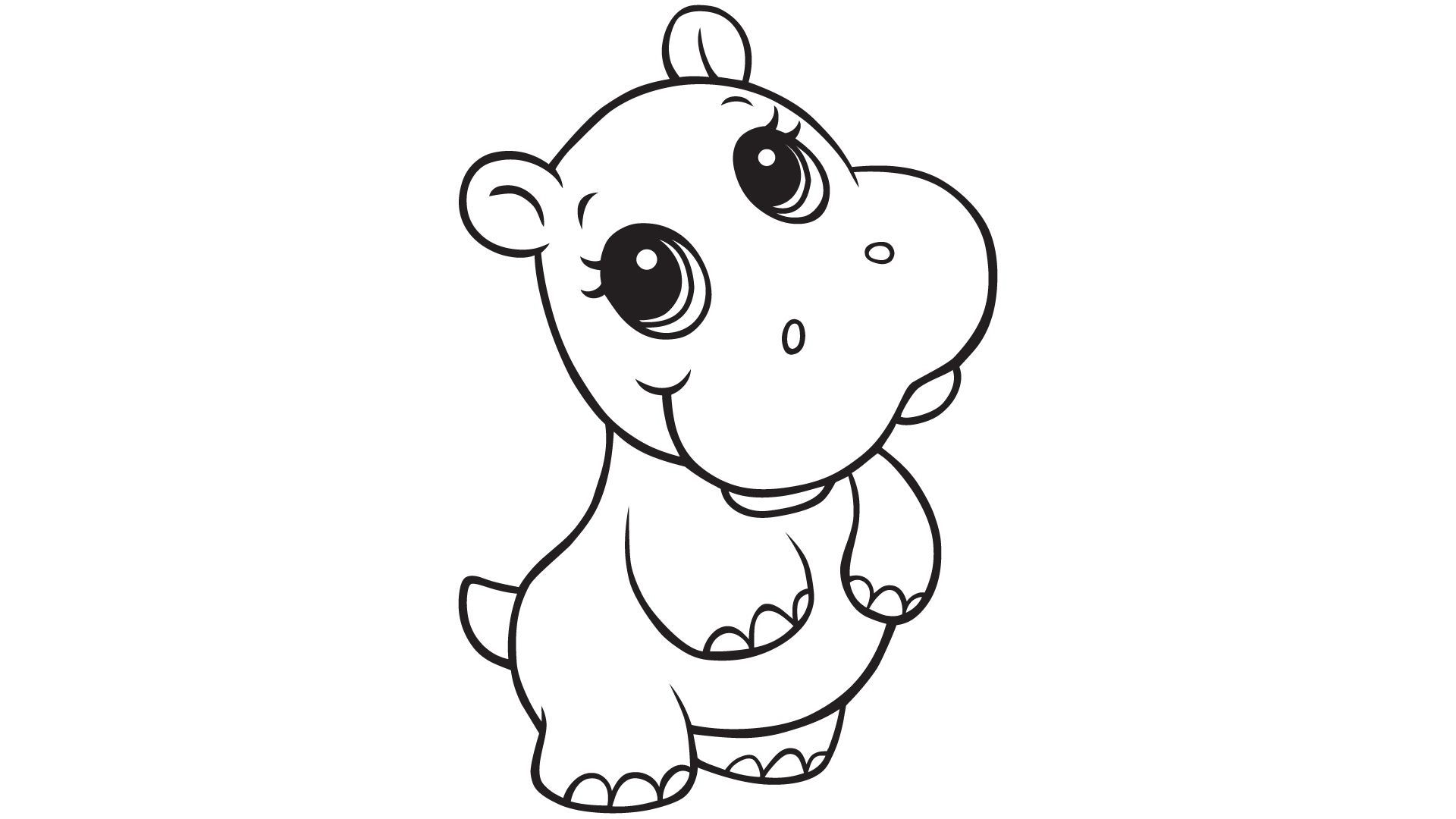Hippopotamus Coloring Pages Cliparts