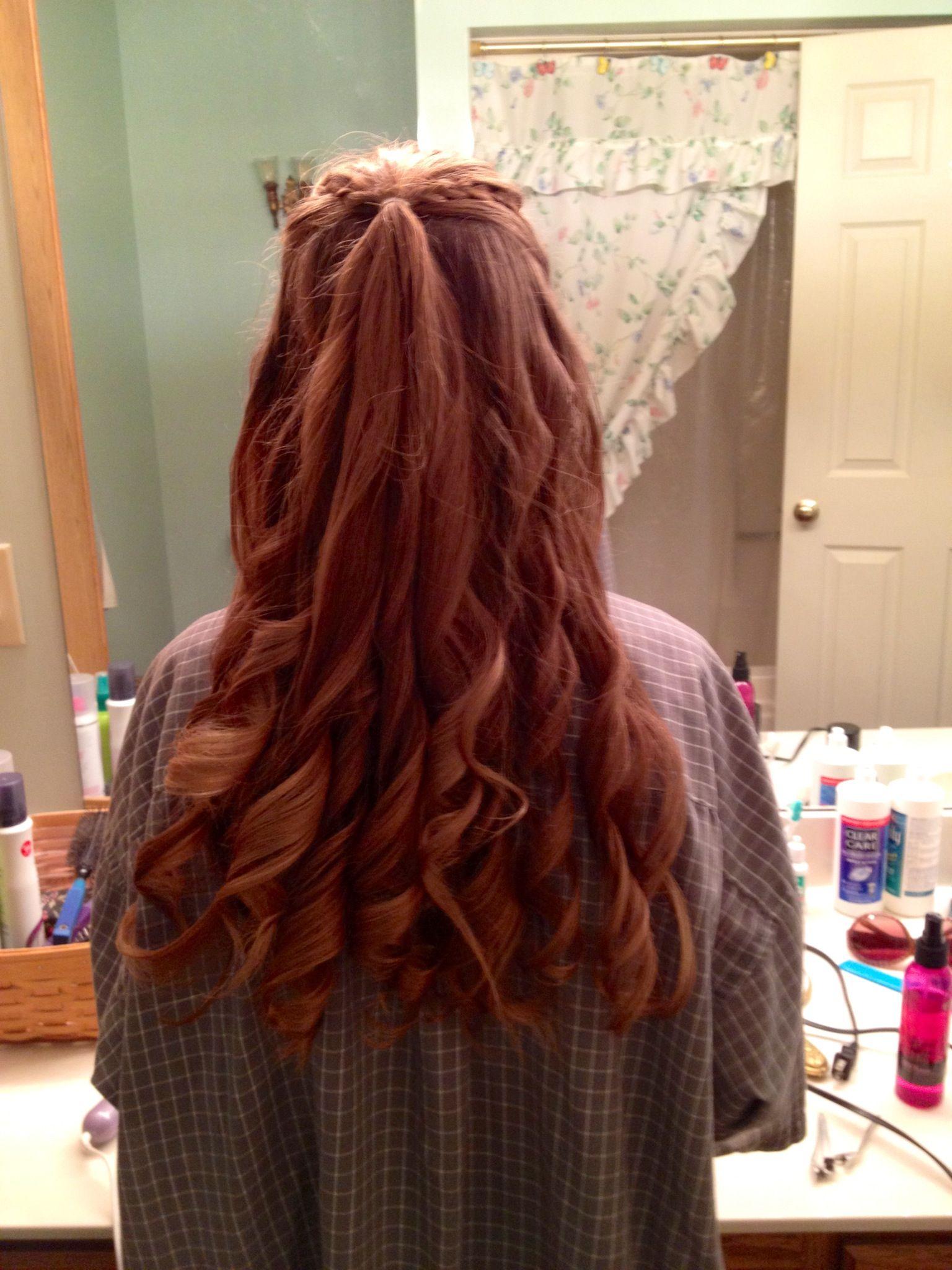 semi formal half up hairstyle | style | hair, semi formal