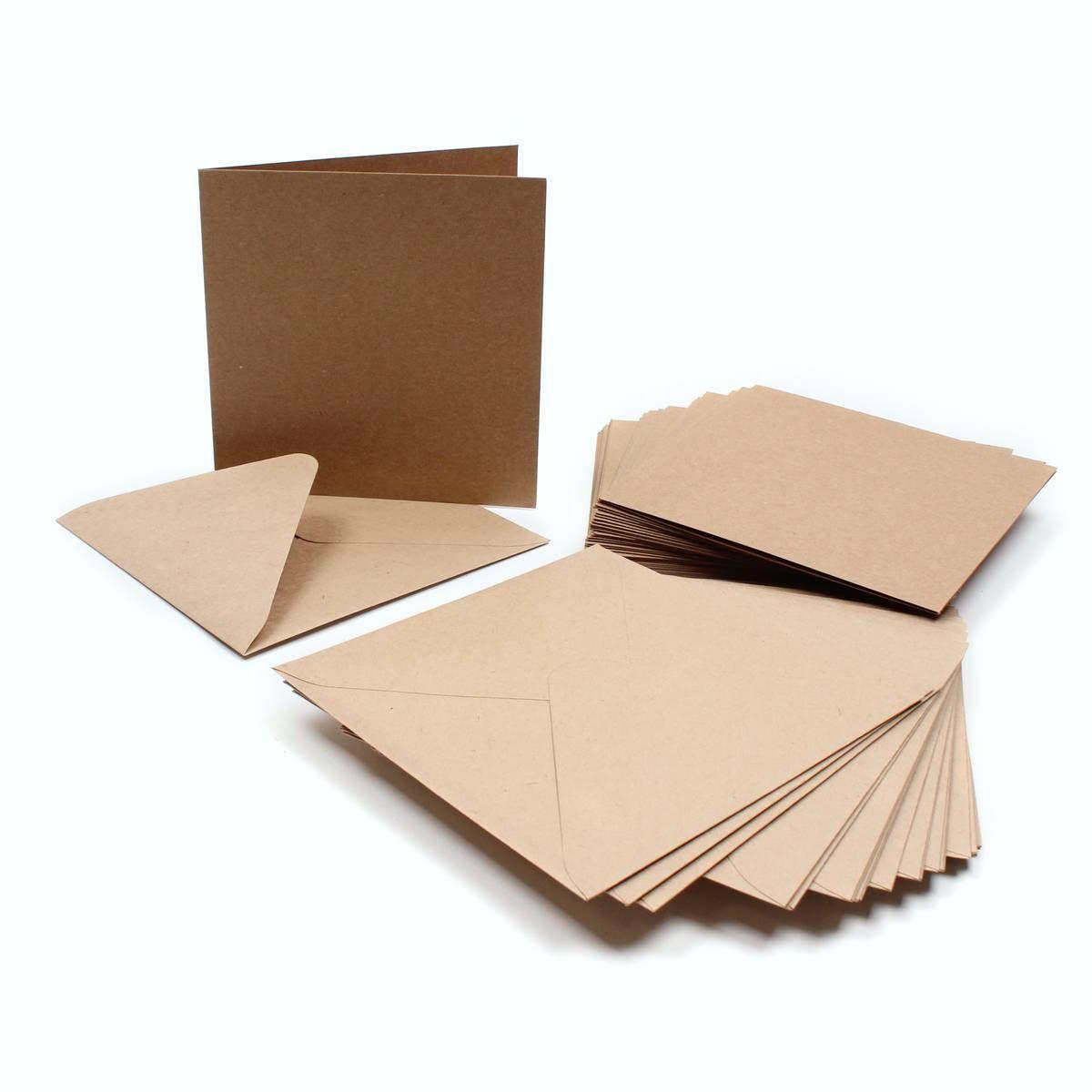 kraft card and envelope 15cm x 15cm 30 pack aide memoir