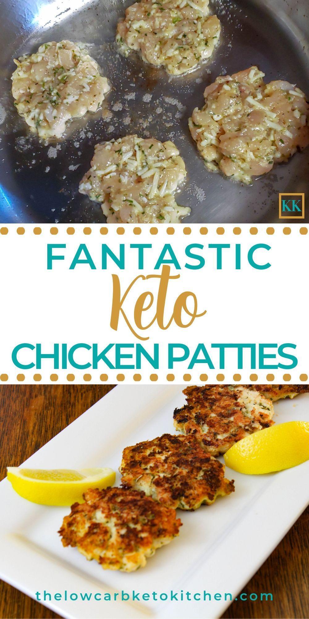 KETO CHEESY CHICKEN PATTIES
