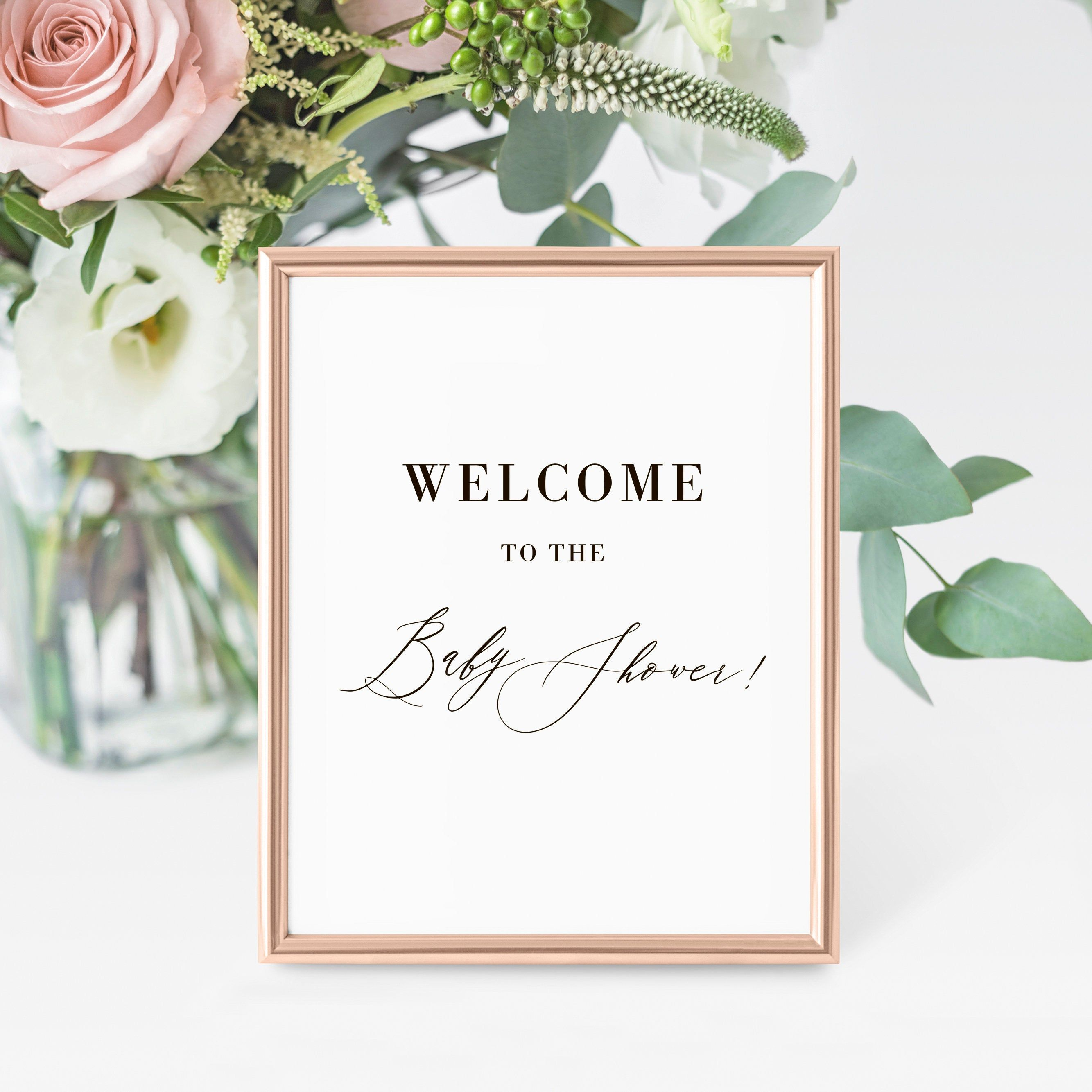 Editable pdf Entry Sign Welcome to the Baby Shower INSTANT DOWNLOAD Wedding Welcome Sign Baby Shower Welcome Sign Printable Meadow