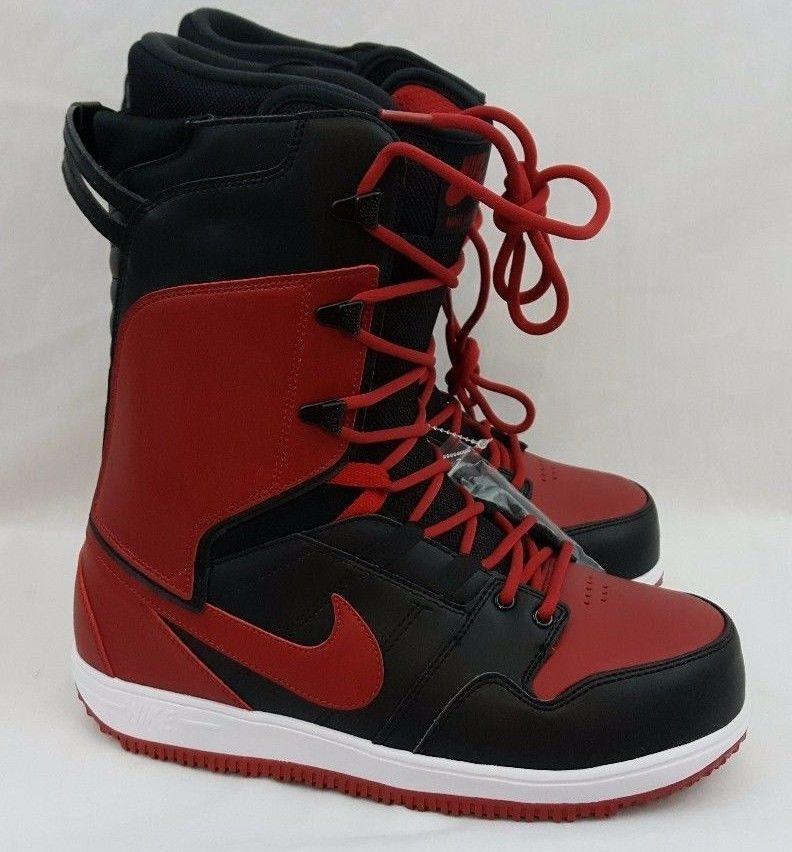 Nike Vapen Red Black Jordan Bred Banned Snowboarding Boots Size 10.5  447125-004  Nike  snowboarding  vapen 28954e597