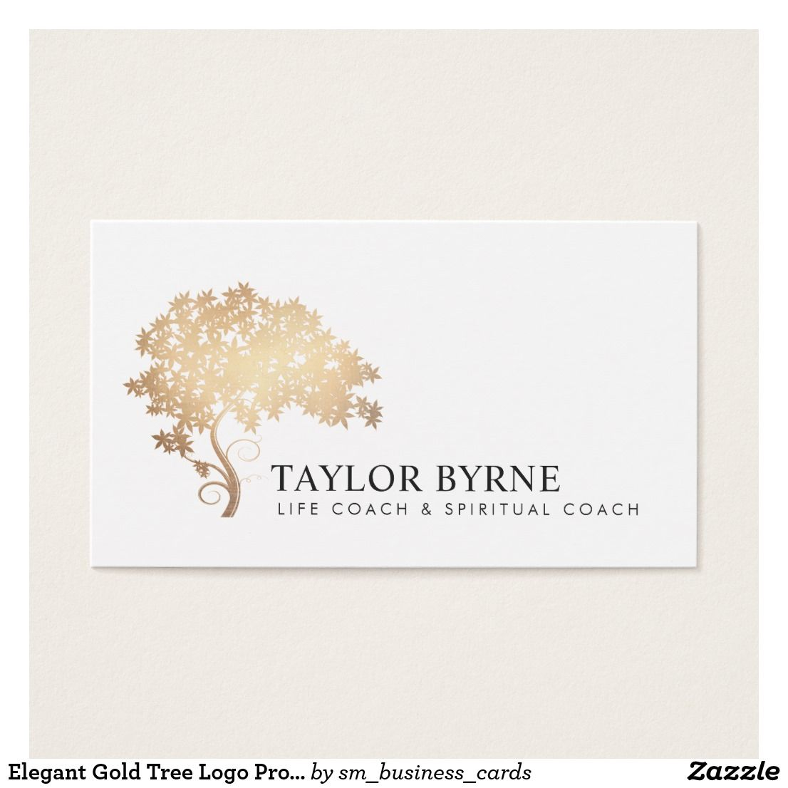 Elegant Gold Tree Logo Professional Business Card | Tree logos and ...