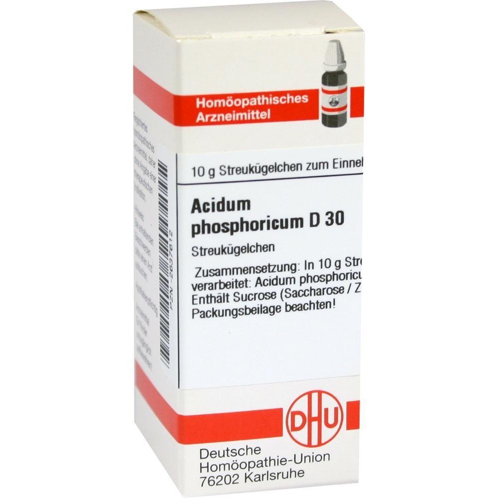 ACIDUM PHOSPHORICUM D 30 Globuli:   Packungsinhalt: 10 g Globuli PZN: 02637612 Hersteller: DHU-Arzneimittel GmbH & Co. KG Preis: 5,19 EUR…