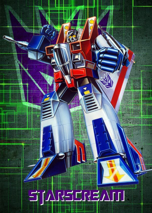 "Transformers G1 Decepticons Starscream #Displate artwork by artist ""Wiebes"". Part of a set featuring… 
