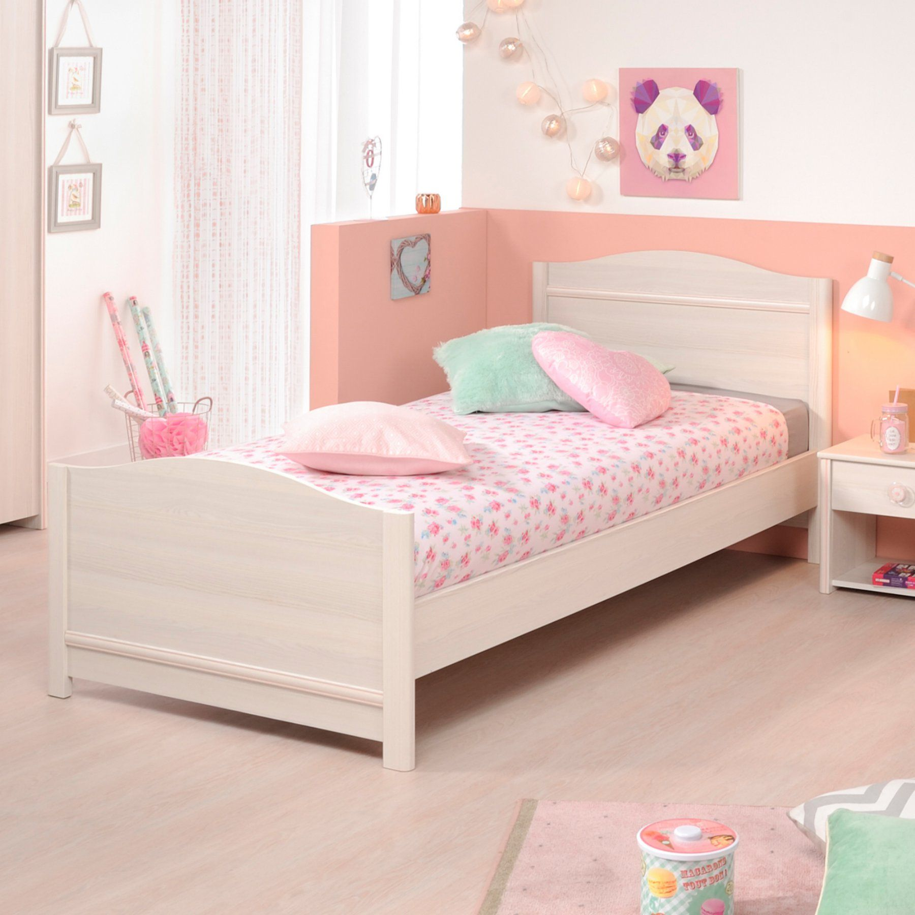 Parisot Nina Youth Twin Bed With Optional Drawers  Azin814