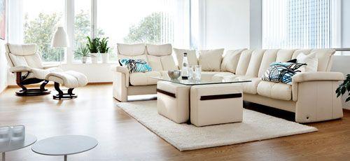 Stressless Legend High Back Leather Sofa Loveseat Sectional Recliner