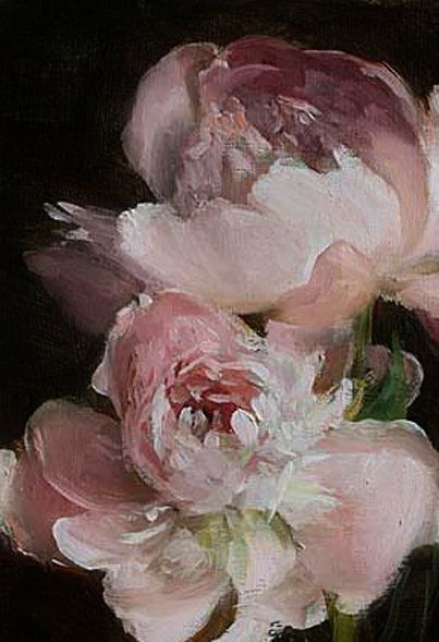 market day peonies detail by julian merrow smith pink