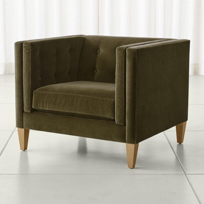 velvet chair and a half recliner