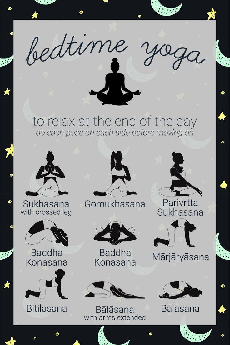 Beenden Sie Ihren Tag mit dieser entspannenden Yoga-Sequenz, um Ihnen den Schlaf vorzubereiten. Rem #workoutplans