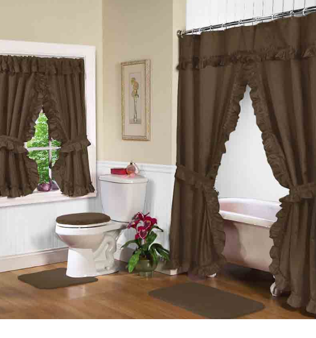 Elegant Double Swag Shower Curtains : Best shower curtain ideas ...