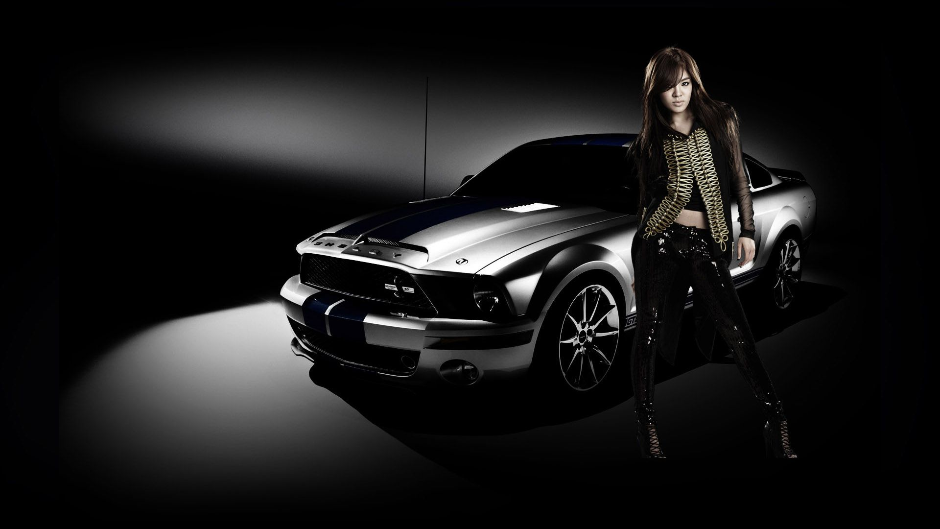 Car And Black Dress Girl Wallpapers Car And Girl Wallpaper Mustang Car Wallpapers Cool cars with girls wallpaper free hd