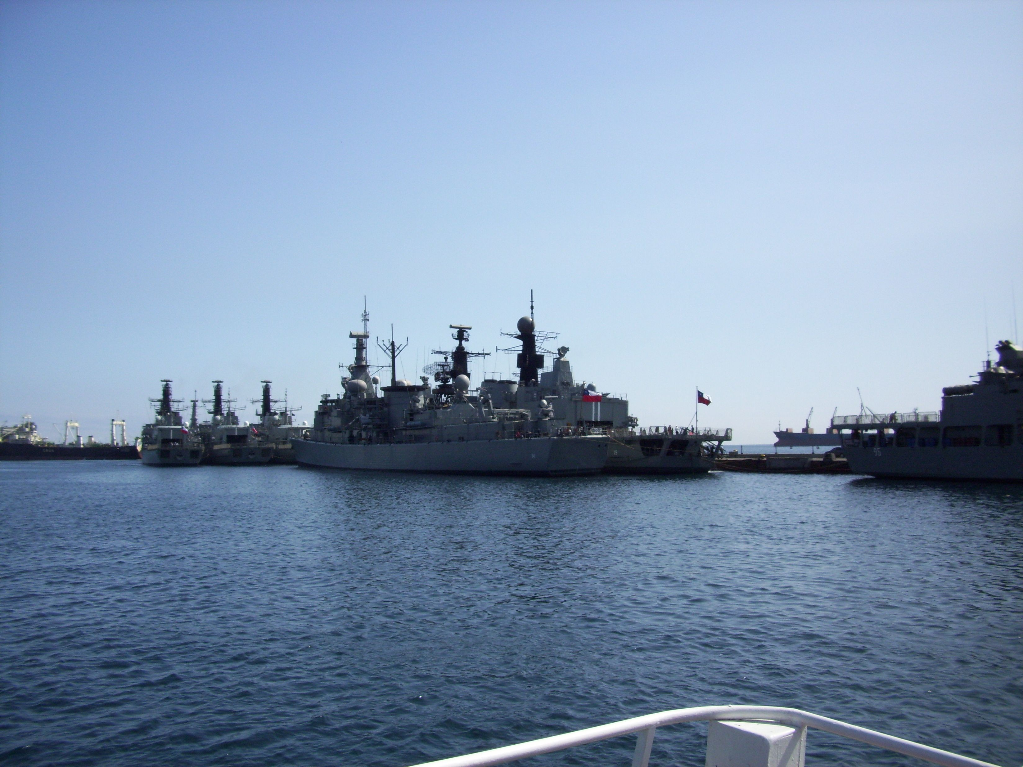 Chilean Naval Ships Off The Coast Of Valparaiso Chile Boat Outdoor Sydney Opera House