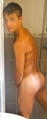 Teen boys in the shower