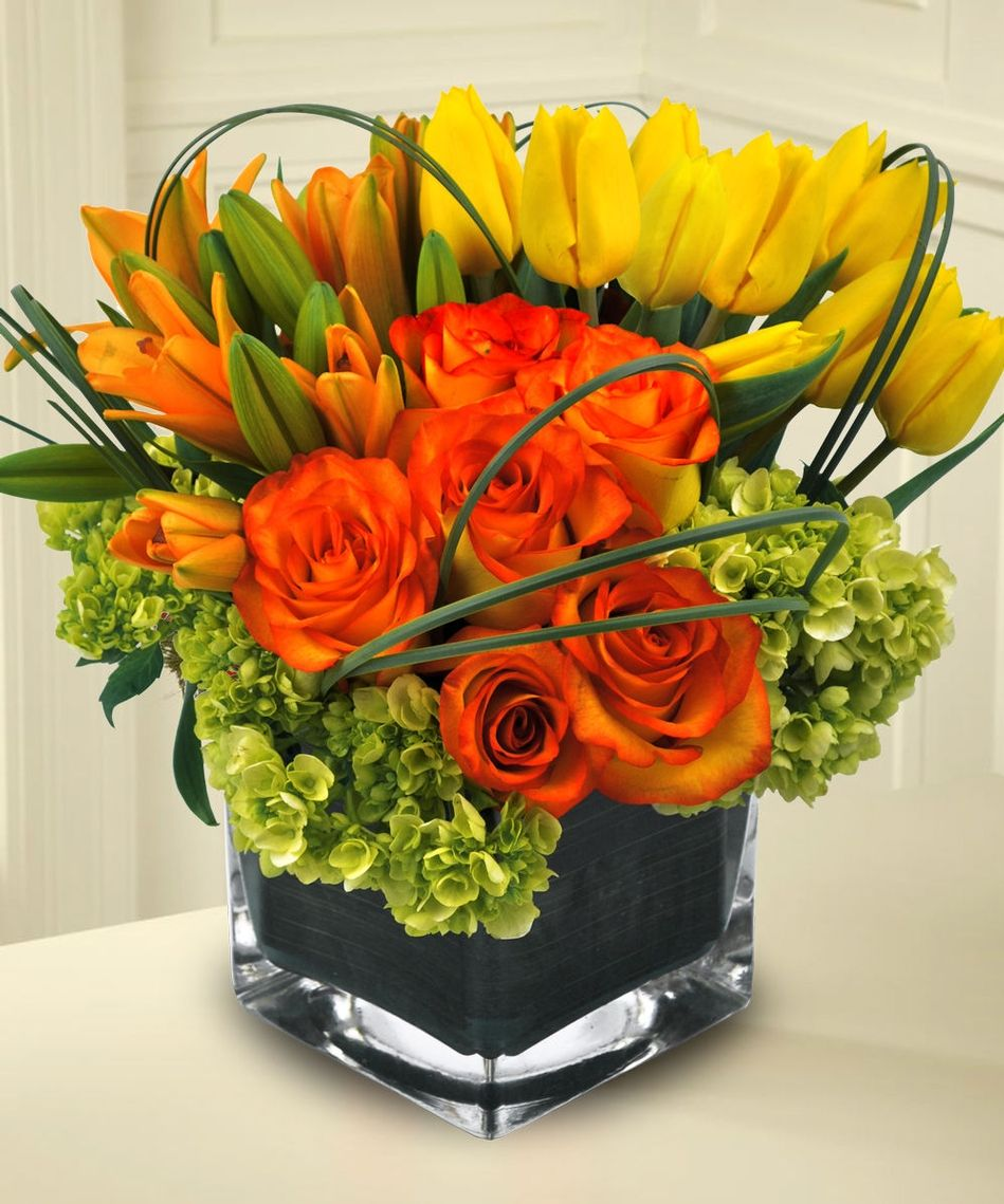 Del mar sunset allens flowers and plants florist flowers imagination bouquet of tulips lilies roses at beneva flowers izmirmasajfo Choice Image