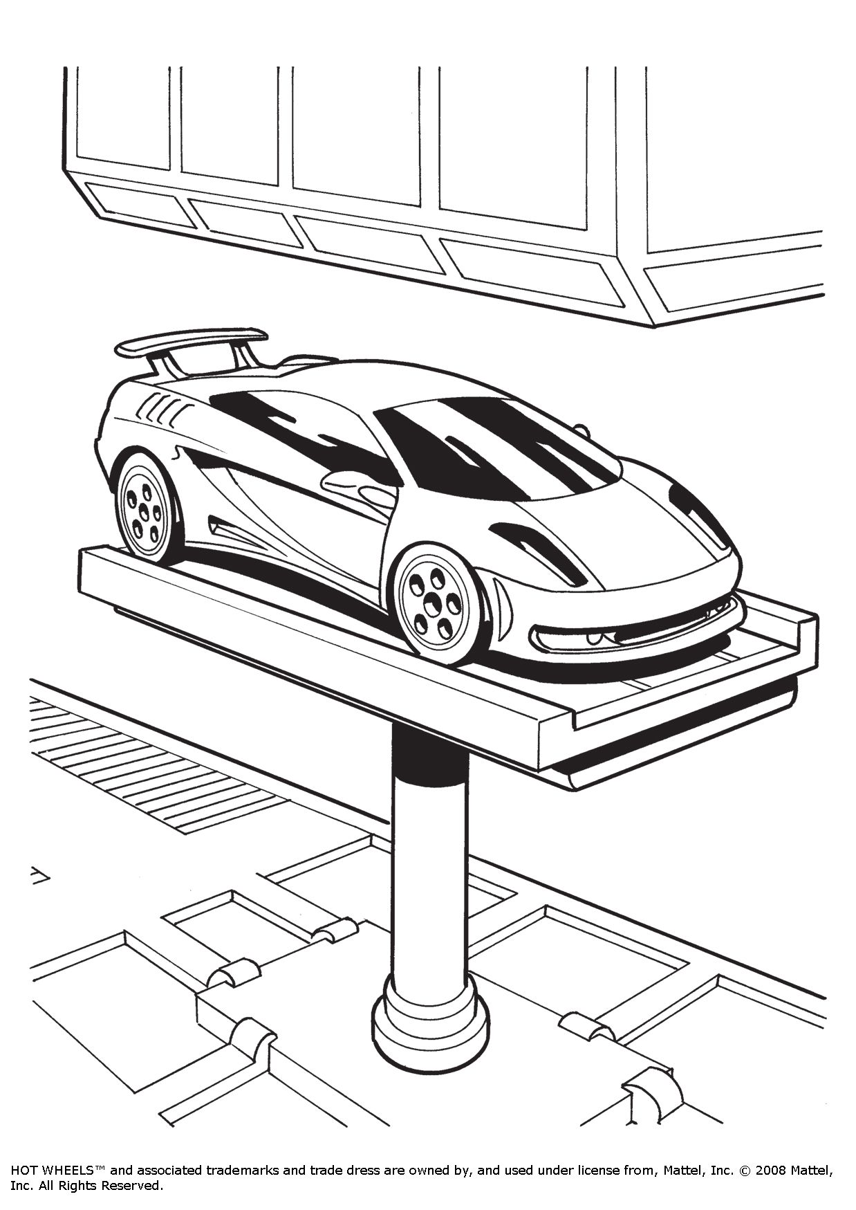 ferrari colouring in page DIY
