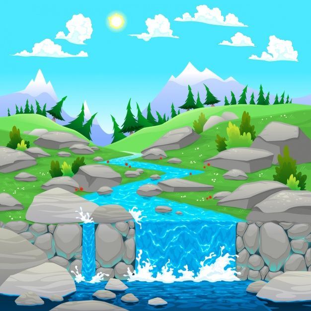 Download Natural Landscape Background Design for free