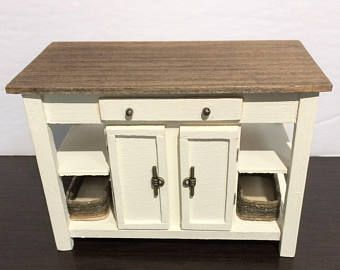 Miniature Kitchen Island Miniature Buffet Table Console Table